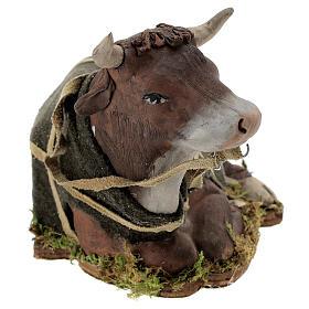 Animated Nativity scene figurine, Ox 24 cm s2