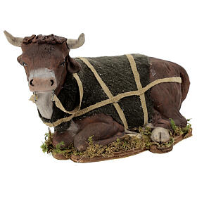 Animated Nativity scene figurine, Ox 24 cm s4