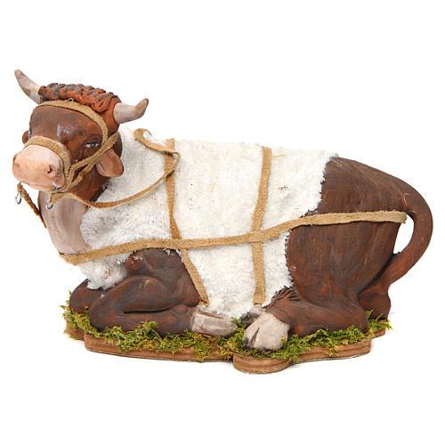 Animated Nativity scene figurine, Ox 24 cm 1