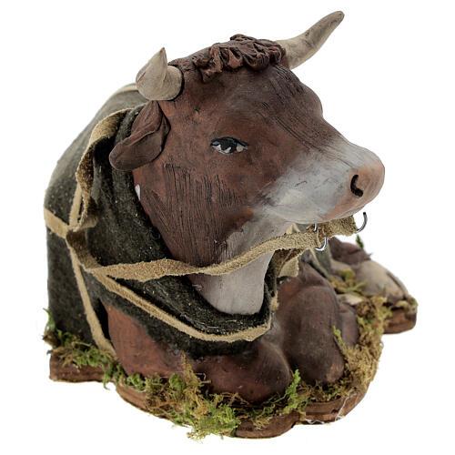 Animated Nativity scene figurine, Ox 24 cm 2