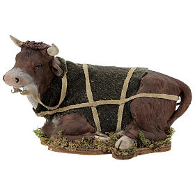 Animated Nativity scene figurine, Ox 24 cm s1