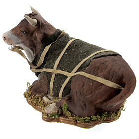 Animated Nativity scene figurine, Ox 24 cm s3
