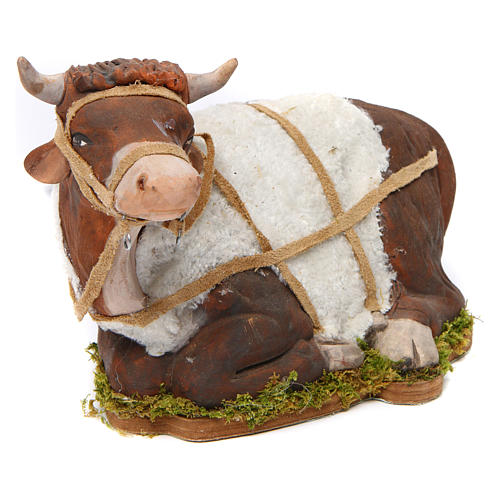 Animated Nativity scene figurine, Ox 24 cm 3