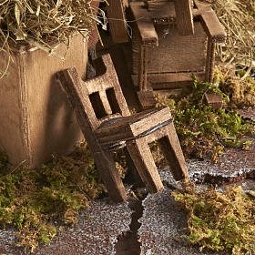 Animated Nativity scene set, chair repairmen 12 cm s4