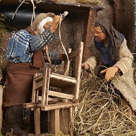 Animated Nativity scene set, chair repairmen 12 cm s2