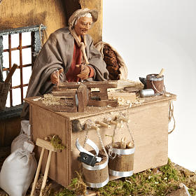 Animated Nativity scene set, carpenter 14 cm s3