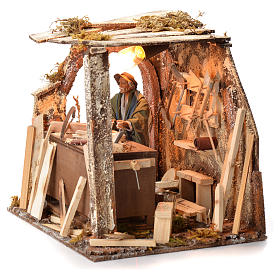 Animated Nativity scene set, carpenter 14 cm s19
