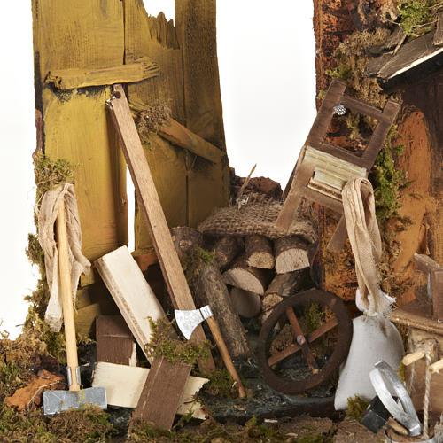Scena falegname 14 cm movimento terracotta 5