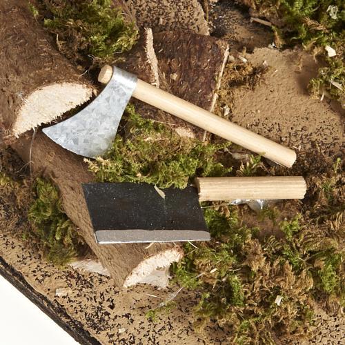 Scena falegname 14 cm movimento terracotta 7