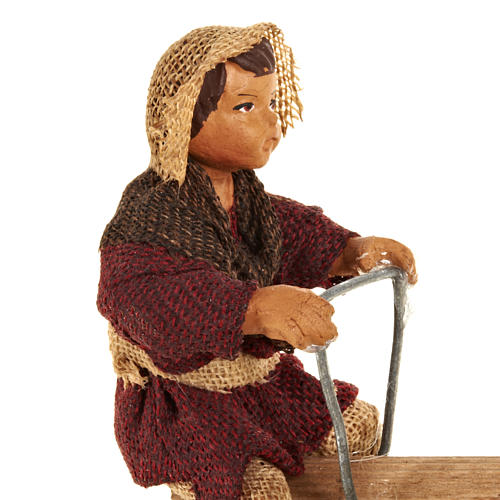 Animated Nativity scene figurines,  children on seesaw 14 cm 3