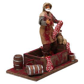 Animated Nativity scene figurine,  grape stomping man 14 cm s3