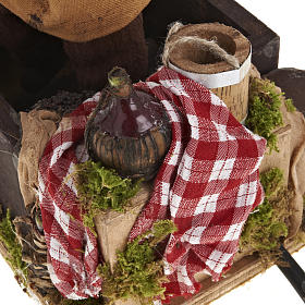 Animated Nativity scene figurine,  grape stomping man 14 cm s6