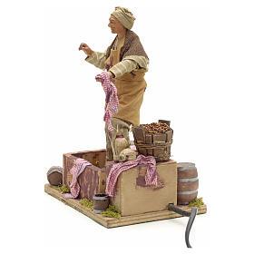 Animated Nativity scene figurine,  grape stomping man 14 cm s13