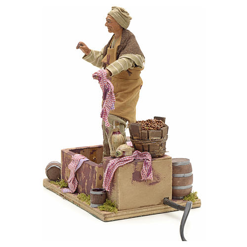 Animated Nativity scene figurine,  grape stomping man 14 cm 5