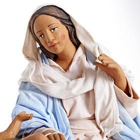 Animated Nativity scene,  traditional manger set 24 cm s4