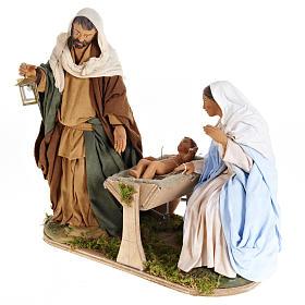 Animated Nativity scene,  traditional manger set 24 cm s6