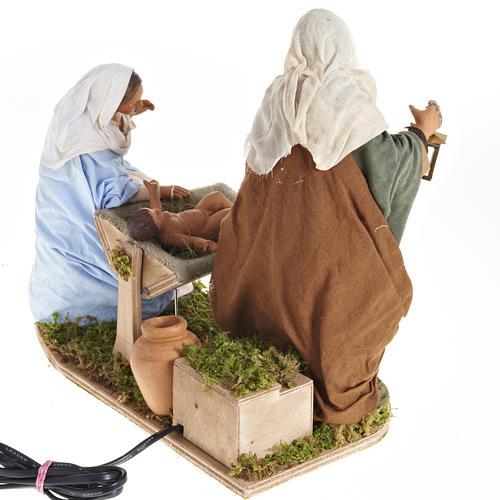 Animated Nativity scene,  traditional manger set 24 cm 5
