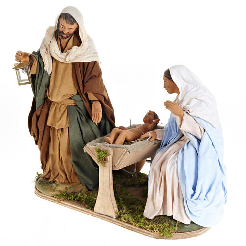 Animated Nativity scene,  traditional manger set 24 cm 6