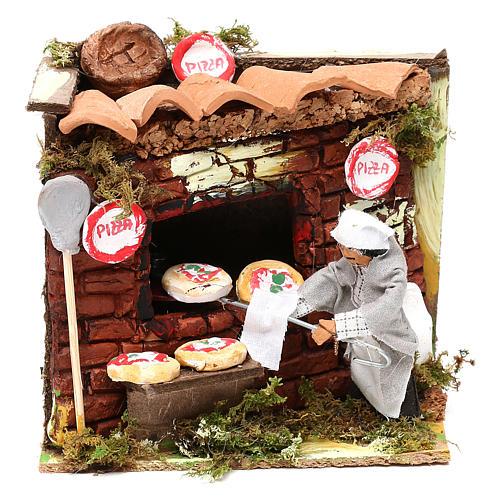 Animated nativity scene figurine, 6 cm pizza maker 1