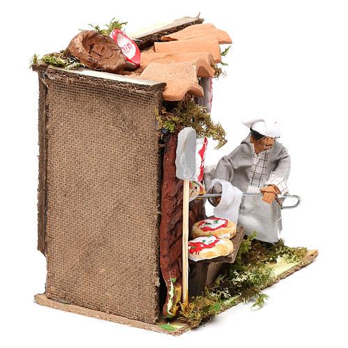 Animated nativity scene figurine, 6 cm pizza maker 3