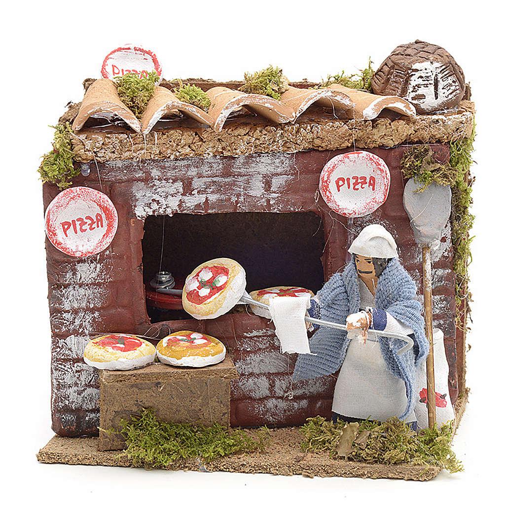 Santon animé pour crèche, pizzaiolo 6 cm 3