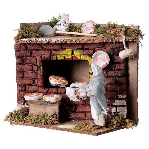 Animated nativity scene figurine, 6 cm pizza maker 2