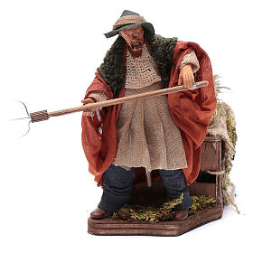Animated Nativity scene figurine, farmer, 12 cm s1