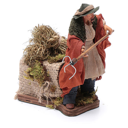 Animated Nativity scene figurine, farmer, 12 cm 3