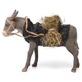 Neapolitan Nativity Scene: Animated Nativity Scene figurine, donkey 24 cm