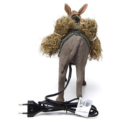 Animated Nativity Scene figurine, donkey 24 cm 4