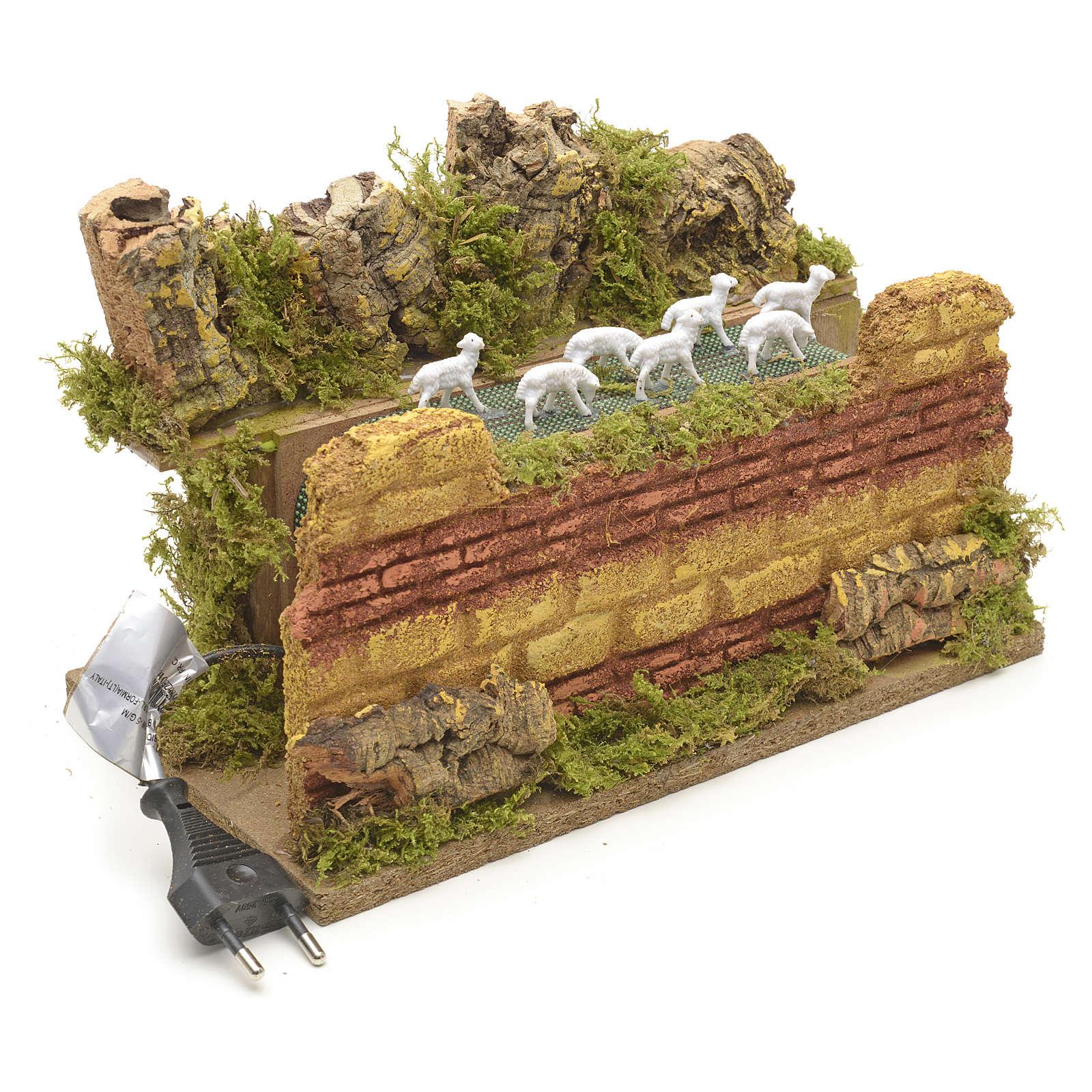 Animated nativity scene figurine, moving herd 25 x 14cm 3