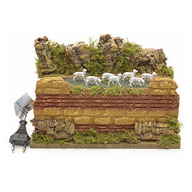 Animated nativity scene figurine, moving herd 25 x 14cm s1