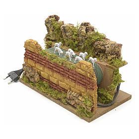 Animated nativity scene figurine, moving herd 25 x 14cm s3