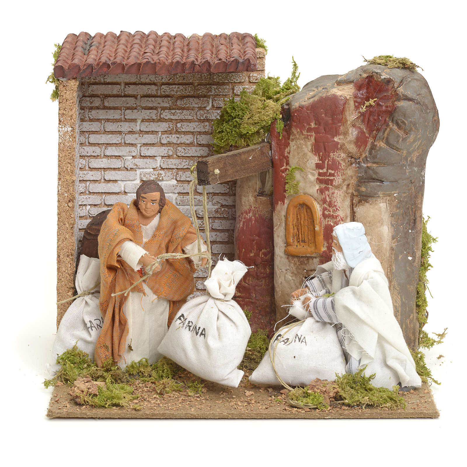 Animated manger scene setting, millers 12 cm 3
