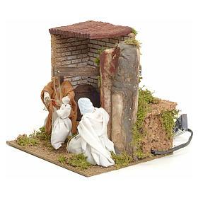 Animated manger scene setting, millers 12 cm s2