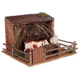 Animated nativity scene figurine, cows in the cattle-shed s3