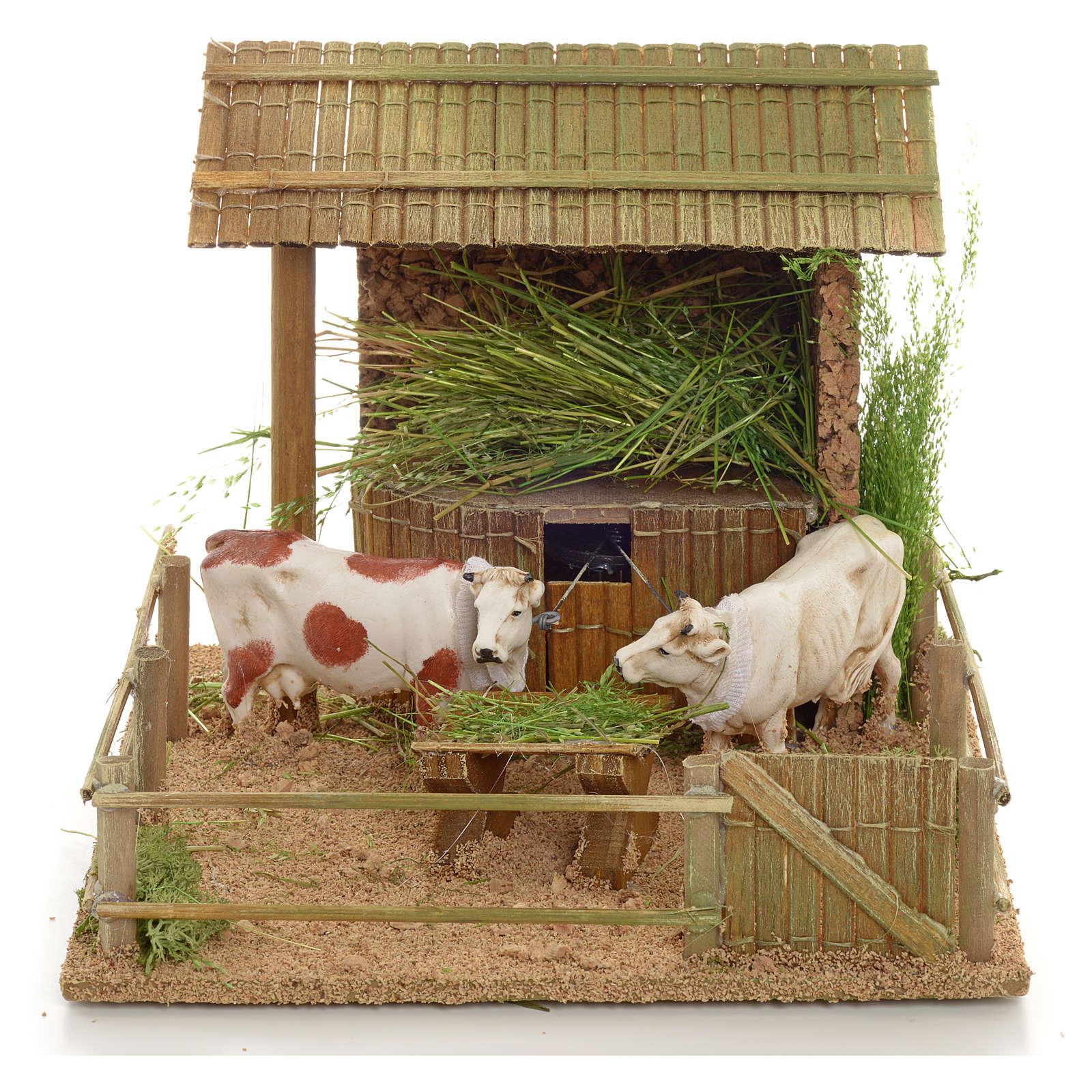 Mucche nella stalla movimento 3