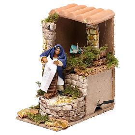 Animated nativity scene figurine, washerwoman 8cm s2