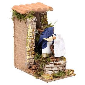 Animated nativity scene figurine, washerwoman 8cm s3