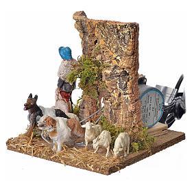 Pastore con pecore e cane 10 cm movimento s3