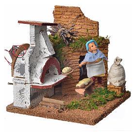 Animated nativity scene figurine, baker, 10 cm s2