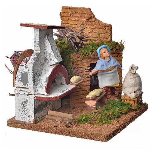 Animated nativity scene figurine, baker, 10 cm 2