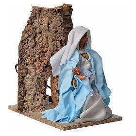 Vierge Marie en mouvement crèche 30cm s3