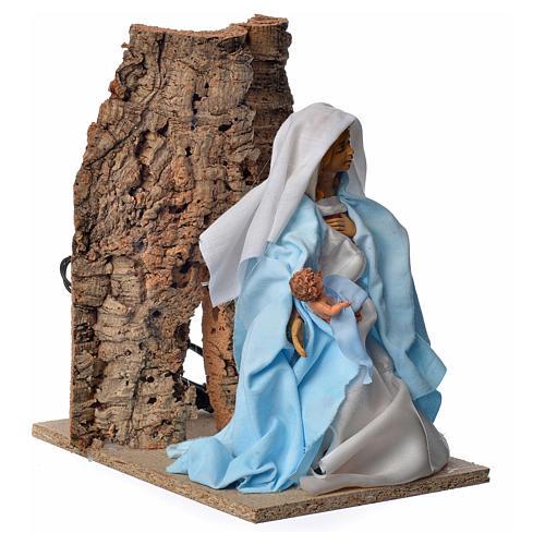 Vierge Marie en mouvement crèche 30cm 3