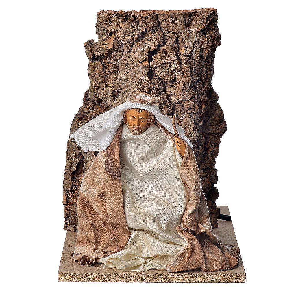 Saint Joseph en mouvement crèche 18cm 3