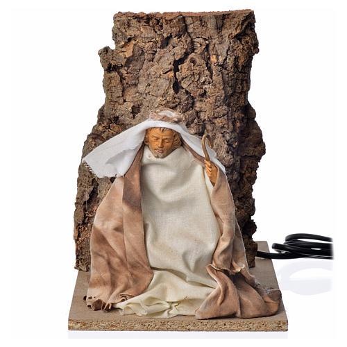 Saint Joseph en mouvement crèche 18cm 5