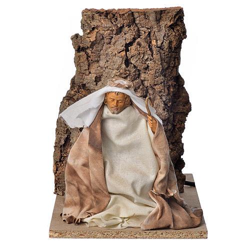 Saint Joseph en mouvement crèche 18cm 1
