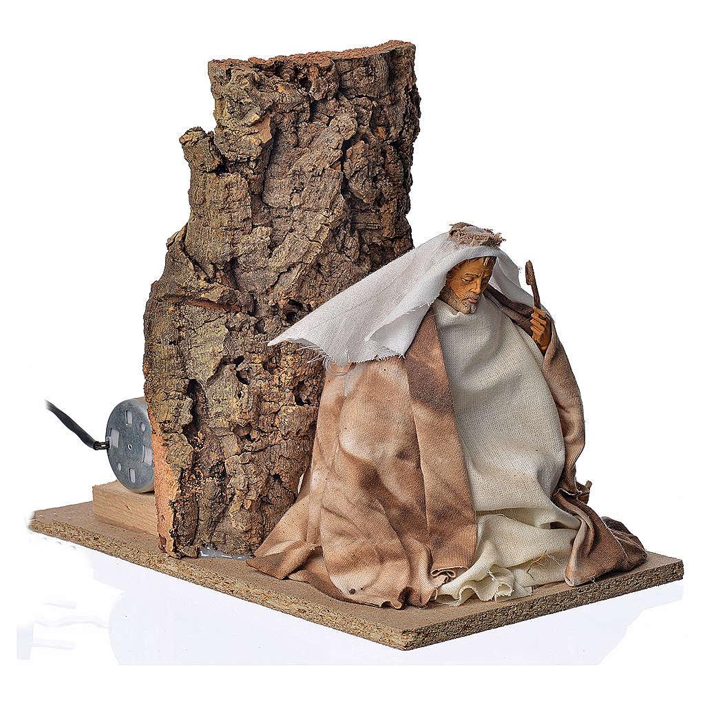 Animated nativity scene figurine, Saint Joseph, 18 cm 3