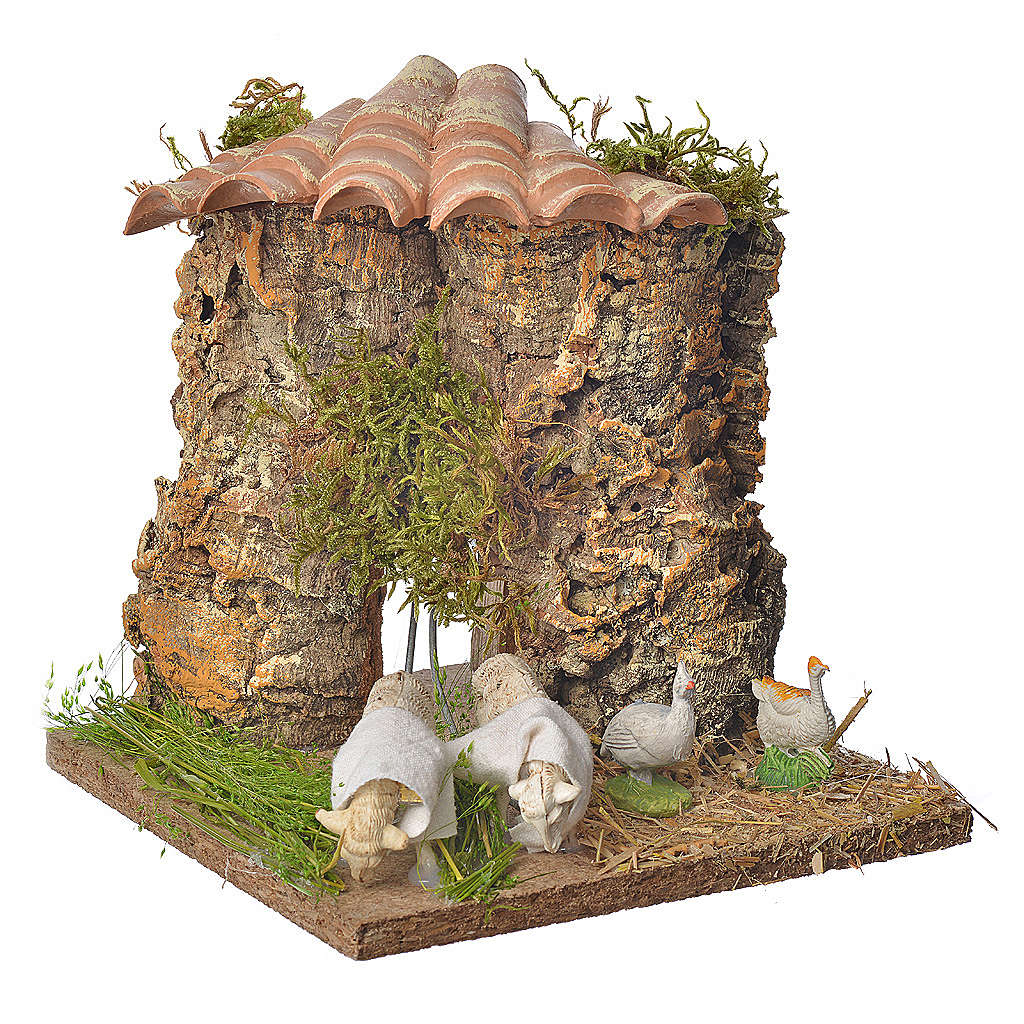 Animated nativity scene figurine, sheep browsing 12-18cm 3
