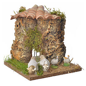 Animated nativity scene figurine, sheep browsing 12-18cm s1